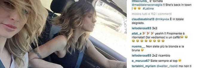 Le veline Elisabetta Canalis e Maddalena Corvaglia di nuovo insieme (Instagram)