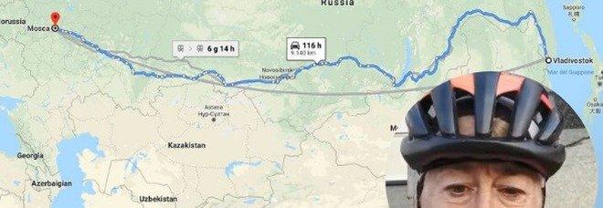 La signora Filippi attraversa la Russia in bici: a 69 anni percorrerà 9000 km