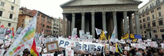 Manifestazione per le unioni civili