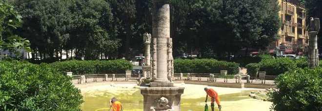Al Via La Riqualificazione Della Storica Fontana Di Piazza Mazzini.   Lu0027intervento   Nato Dalla Collaborazione Con Roma Uno Tv, Che Porta Ad Un  Nuovo ...