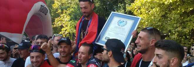 Sezze: Cristian Nardecchia straccia il precedente record di dislivello in bici: è stato come scalare per due volte l'Everest