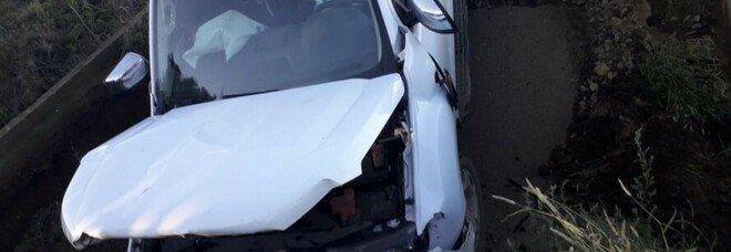 Tarquinia, crolla ponte in località Pian di Spille: coinvolta un'auto, ferito il conducente
