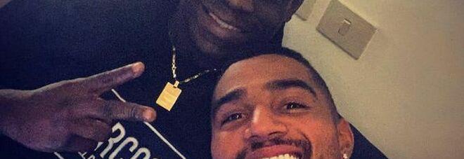Monza, selfie Balotelli-Boateng: «Bentornato fratello»