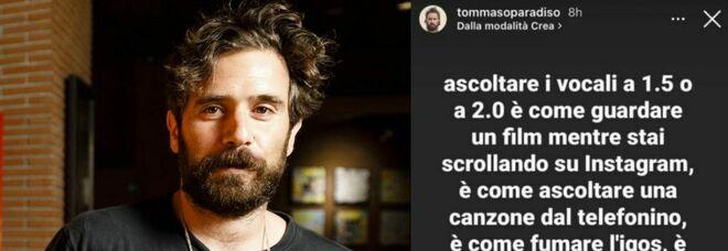 Tommaso Paradiso contro nuova funzione WhatsApp: «Chi la usa non dà il giusto peso alle cose»