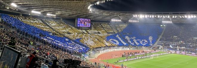 Lazio-Juventus, la coreografia della Nord è un mosaico mozzafiato