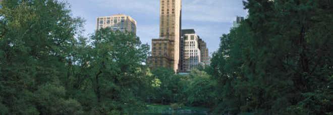 L'elegante torre del Pierre vista da Central Park