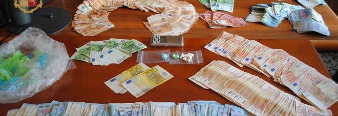 I soldi sequestrati allo spacciatore di Velletri