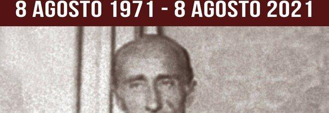 Domenica 8 agosto 50° anniversario della morte di Potenziani, il sindaco Cicchetti deporrà una corona