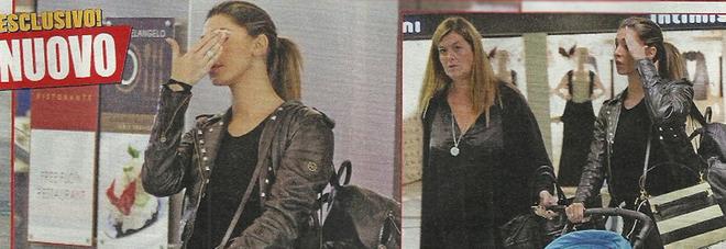 Belen Rodriguez infastidita dai paparazzi mentre passeggia a Milano