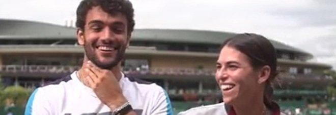 Berrettini, il video esilarante dell'intervista doppia con la fidanzata Ajla