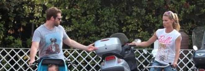 Michelle Hunziker e Tomaso Trussardi con Sole