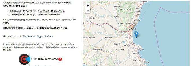 Terremoto, scossa di 3.3 a Catania: «Sentito dalla popolazione»