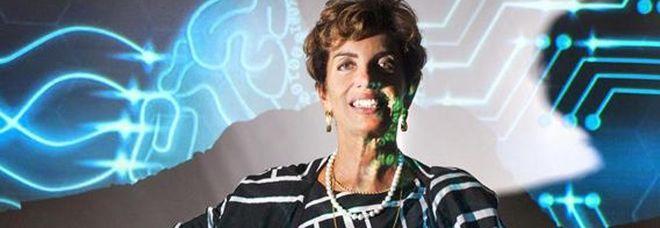 Paola Velardi in una foto Gerard Bruneaux esposta alla mostra curata dalla Fondazione Bracco