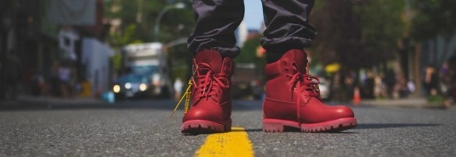 timberland scarpe rosse