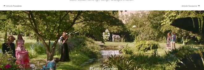 la maison gucci sceglie il giardino di ninfa ma dimentica