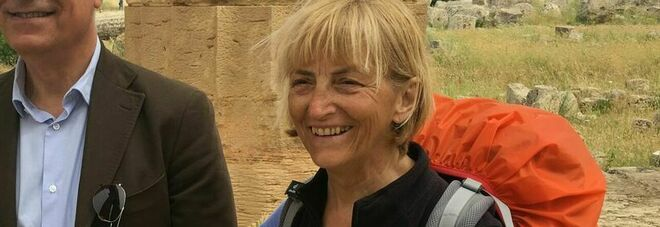 Nella foto Vittoria Cammarota al suo arrivo nel parco di Paestum