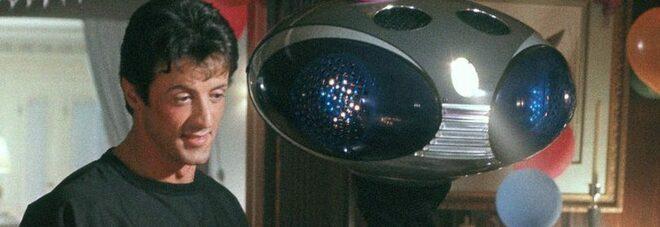 Stallone e il robot di Paulie