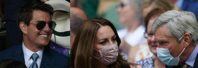 Wimbledon, da Kate Middleton a Tom Cruise: grandi nomi in tribuna per Djokovic-Berrettini