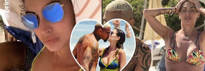 Melissa Satta, vacanze hot a Ibiza con Kevin Prince Boateng e Maddox