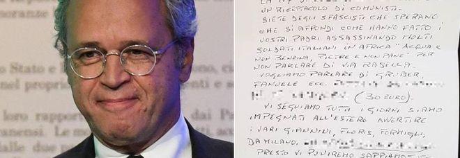 Minacce e insulti a Mentana e La7: il giornalista pubblica la lettera choc su Instagram