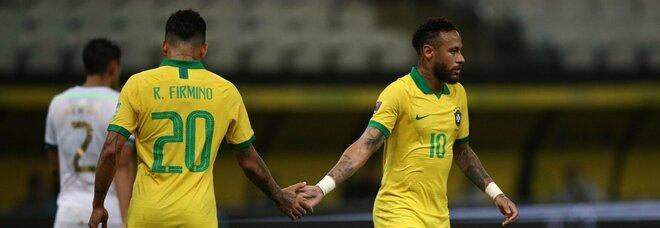 Il Brasile debutta nel 2020: cinque reti alla Bolivia con super Neymar