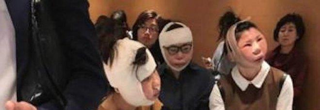Donne cinesi bloccate in areoporto dopo il lifting