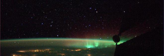 Aurora boreale vista dalla stazione spaziale