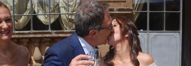 Bruno Astorre si sposa con la candidata sindaco di Frascati: ecco chi c'è alla festa