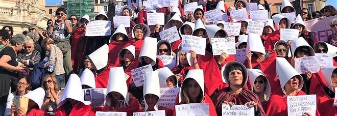 Una delle manifestazioni contro il ddl Pillon