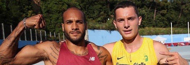 Marcell Jacobs e Filippo Tortu lo scorso anno a Savona (foto Fidal/Colombo)