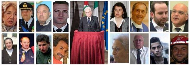 Atti di eroismo, il presidente Mattarella premia 40 cittadini