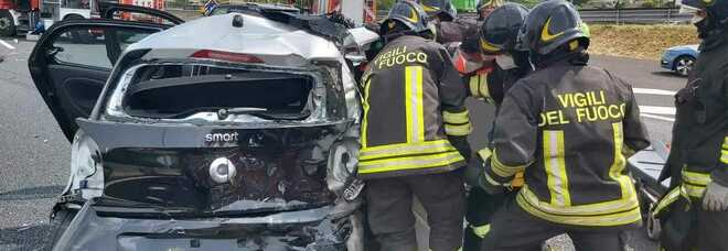 Incidente stradale sul Grande raccordo anulare