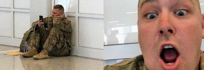 Volo cancellato, il militare vede nascere la prima figlia con FaceTime