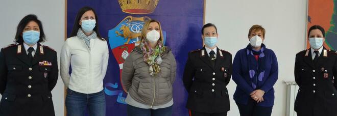 Anche le donne dell'Arma della provincia di Rieti festeggiano l'8 marzo
