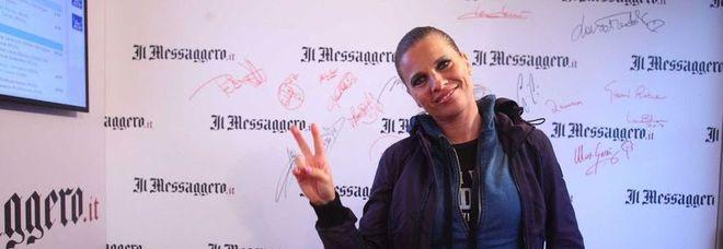 Laura Freddi nello stand del Messaggero.it al Foro italico