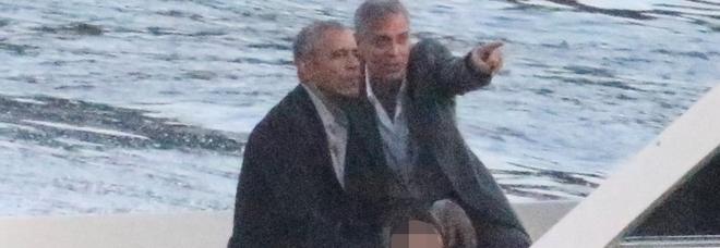 Barack Obama sul lago di Como insieme a George Clooney
