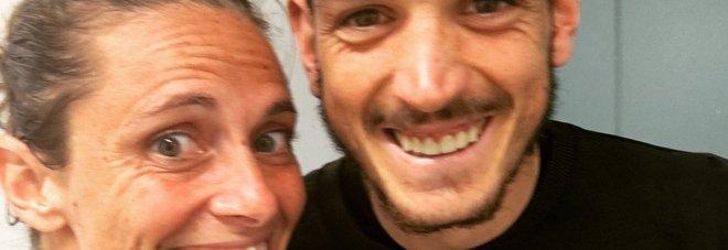 Internazionali Bnl d'Italia, Roberta Vinci e Alessandro Florenzi insieme dopo gli allenamenti