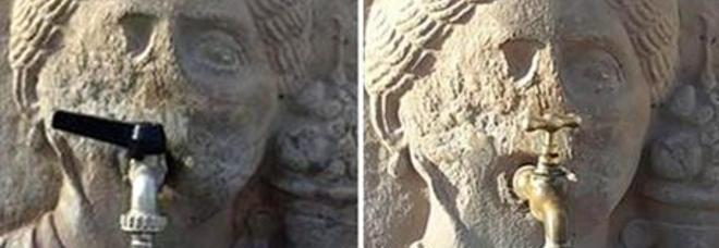 Pompei scempio nelle fontane sui mascheroni romani for Fontane antiche