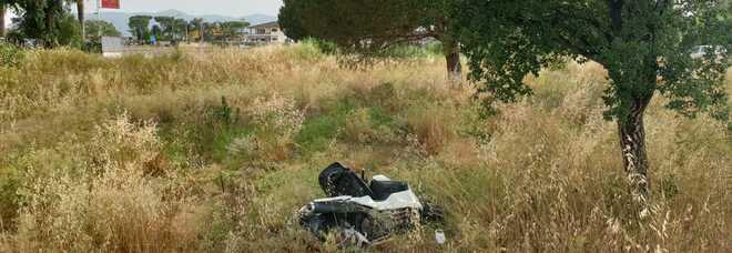 Incidente sulla Pontinia al bivio con San Vito: ferito un motociclista