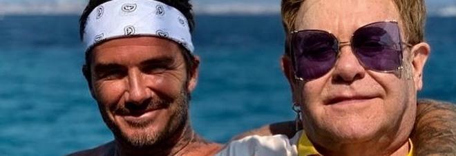 David Beckham ed Elton John, la foto che spopola su Instagram