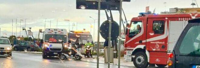 Incidente all'ingresso di Terracina, coinvolto un disabile con carrozzina elettrica