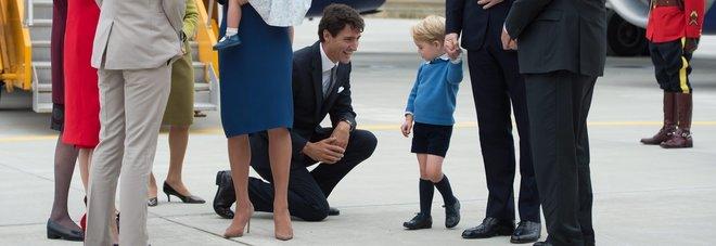 Justin Trudeau e il principino George