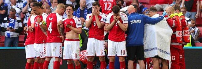 Dramma Eriksen, l'Uefa sospende Danimarca-Finlandia per emergenza medica