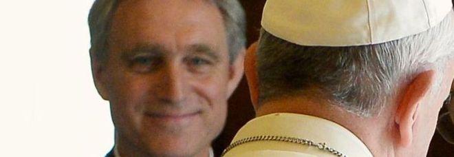 Padre Georg con Papa Francesco