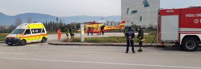 Ventenne in gravi condizioni trasferita con l' eliambulanza del 118 dall'ospedale di Foligno a quello di Ancona