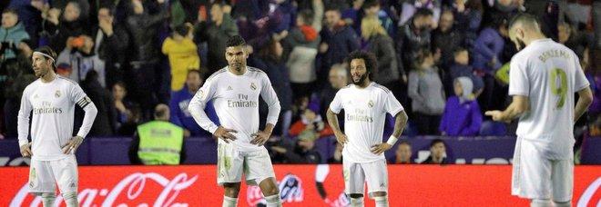 Liga, il Real perde contro il Levante e scivola al secondo posto