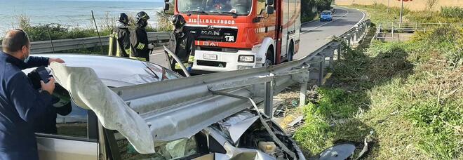 Ecco come era ridotta la Ford Fiesta dopo l'incidente