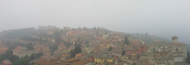 Perugia vista dalla webcam di Perugia meteo