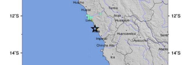 Terremoto a Lima, scossa di magnitudo 5.8 al largo della costa del Perù