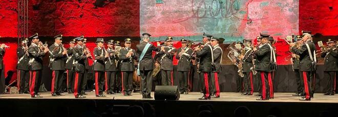 Nepi, la banda dei carabinieri suona al Festival della danza per ricordare Carla Fracci